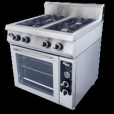 Плита газовая 4-х горелочная  с полностью газовой духовкой Ф4ПДГ/800