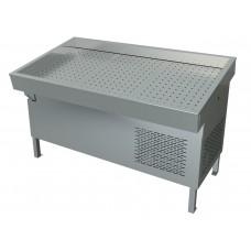 Прилавок холодильный среднетемпературный «Рыба-на-льду» ПХС-1,55/1,1 (встроенное холодоснабжение) МХМ