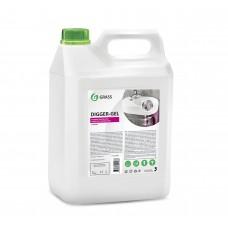 """Средство щелочное для прочистки канализационных труб """"DIGGER-GEL"""" (канистра 5,3 кг) Grass"""