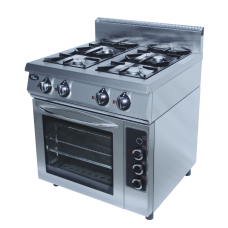 Плита газовая 4-х горелочная Ф4ПДГ/800 с комбинированной духовкой