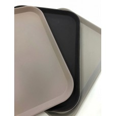 Поднос прорезиненный антискользящий 460Х360Х20ММ коричневый GQ-FH046