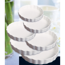 Блюдо с рифлёным бортом круглое фарфор FAIRWAY 18см 4585