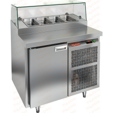 Стол охлаждаемый для пиццы  HICOLD  PZ1-1/GN стекло