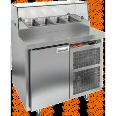 Стол охлаждаемый для пиццы  HICOLD  PZ2-1/GN стекло