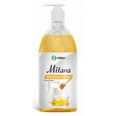 """Крем-мыло жидкое увлажняющее """"Milana молоко и мед"""" (флакон 1000 мл) Grass"""