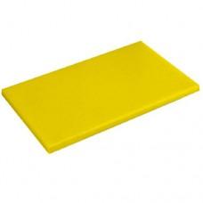 Доска разделочная 600х400мм h18мм, желтая