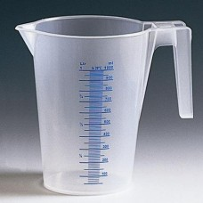 Кувшин мерный 1,0л, прозрачный, п/п