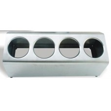 Диспенсер для емкостей для столовых приборов 4 отв., одна линия, нерж.сталь