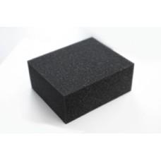 Губка черная химостойкая 120*100*50 мм Grass